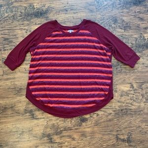 Striped 3/4 sleeve sweater from Maurice's